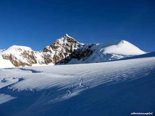 Eastern Lyskamm seen from Lys Glacier