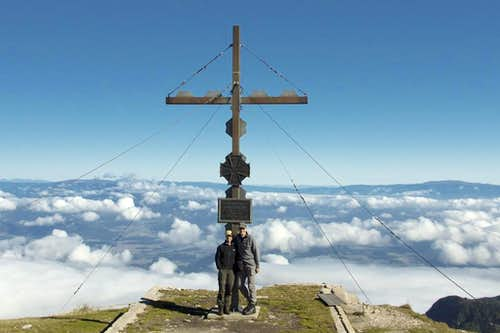 Hochobir summit cross