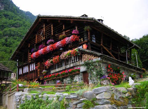 Traditional house at Alagna Valsesia