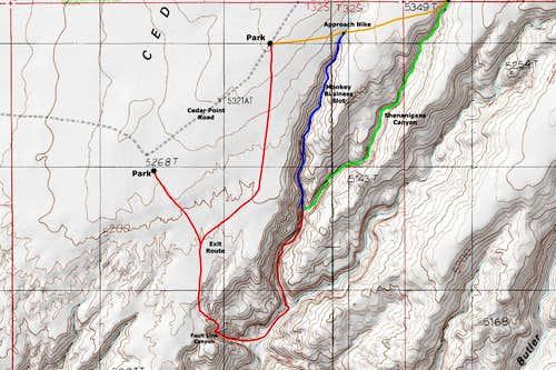 West Fork Butler Slots Map
