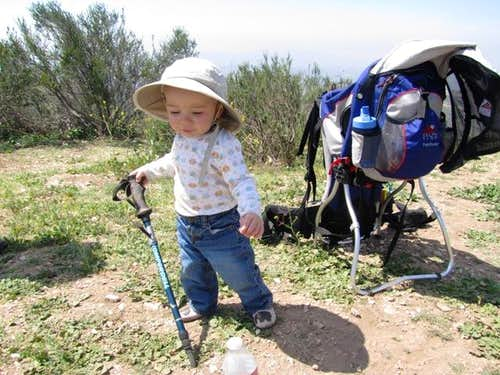 Learning how to use a hiking pole