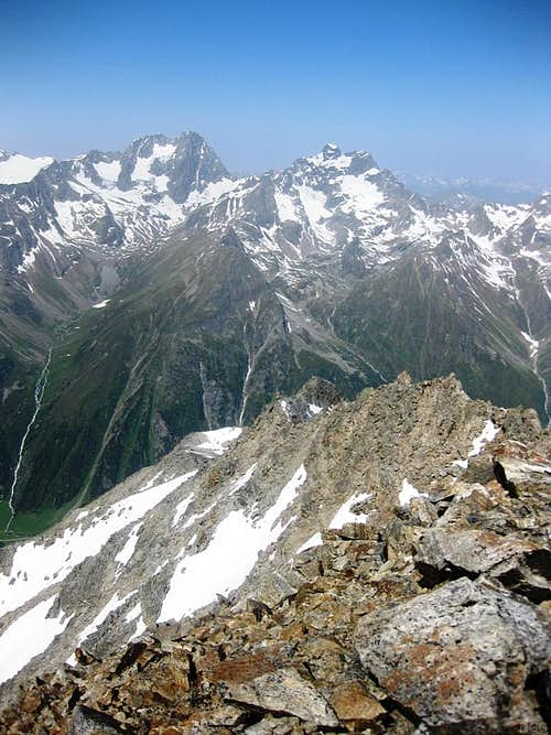 Watzespitze (3532m) and Verpeilspitze (3423m) from the east