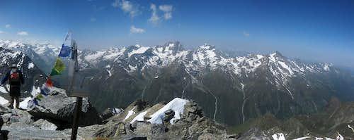 Hohe Geige summit panorama