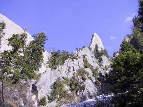 Looking up at the North Arete...