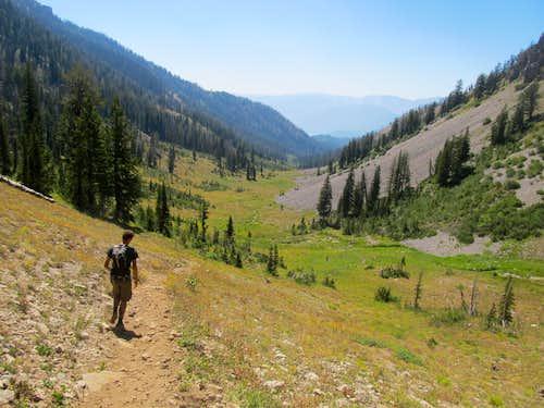descending Little Elk Creek