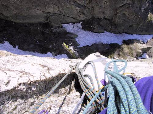 Looking down into the gully...
