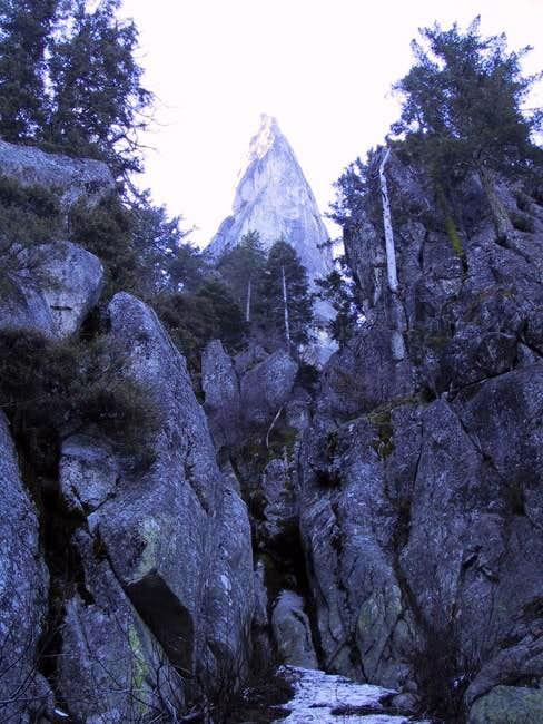 Castle Rock Spire from low in...