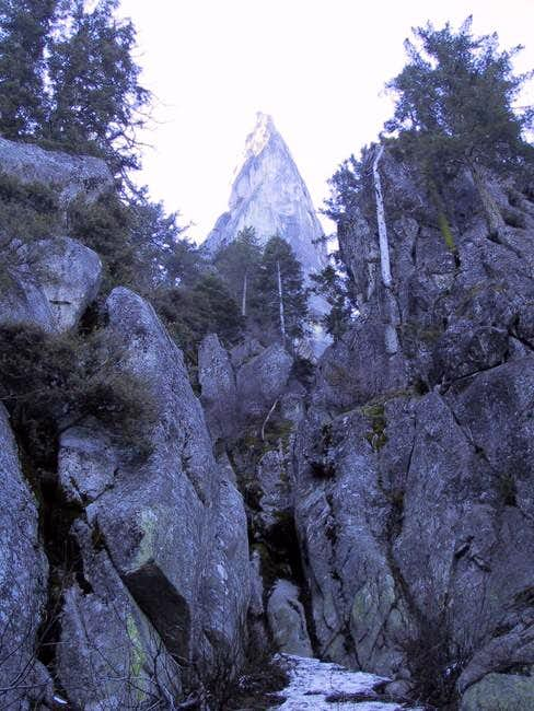 Castle Rock Spire from low in...