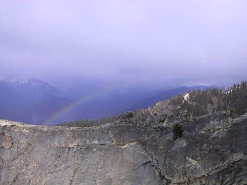 Rainbow over the summit of...