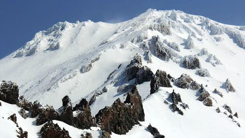 Mt Shasta, Casaval Ridge in April 2012