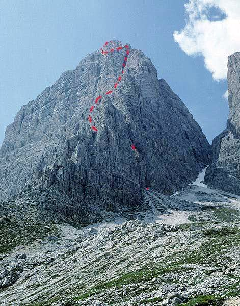 Cima Grande South Face Route