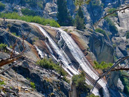 High Sierra Trail waterfall on way to Hamilton Lake