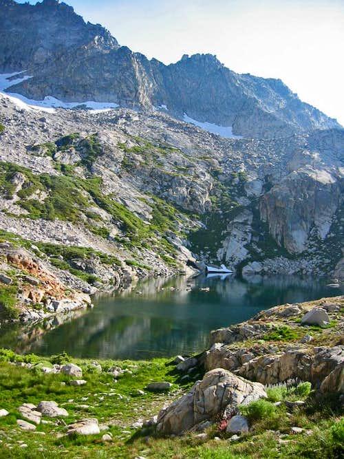 High Sierra Trail campsite above Hamilton Lake