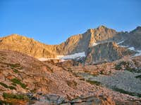 High Sierra Trail Alpenglow above Hamilton Lake