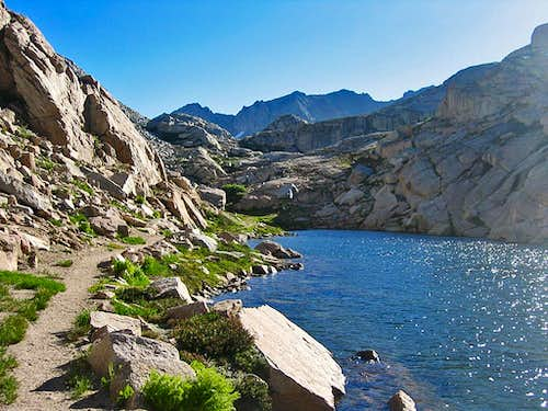 High Sierra Trail between Precipe Lake and Kaweah Gap