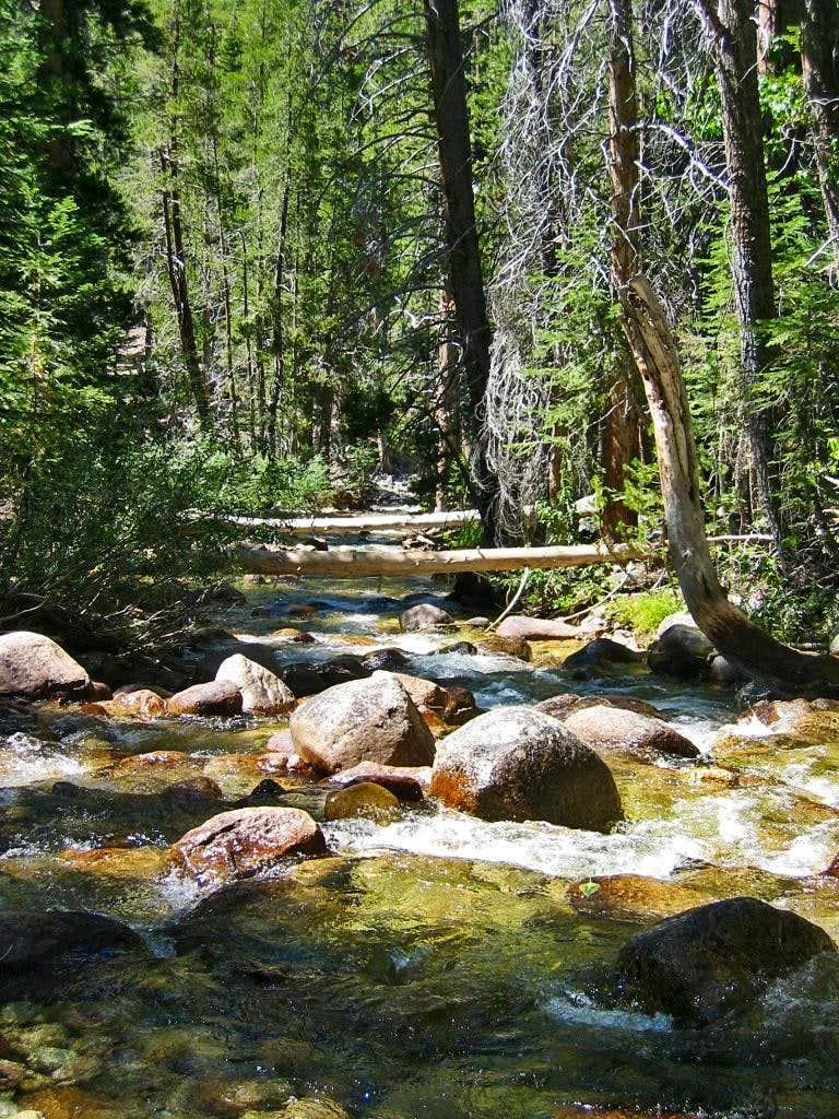 High Sierra Trail Kern River river crossing