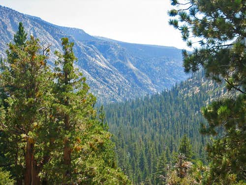 High Sierra Trail ascending out of Kern River Valley