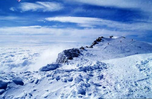 View from the high camp on...