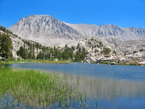Mt. Whitney seen from Timberline Lake