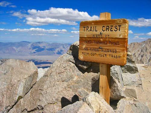 Mt. Whitney Trail Crest