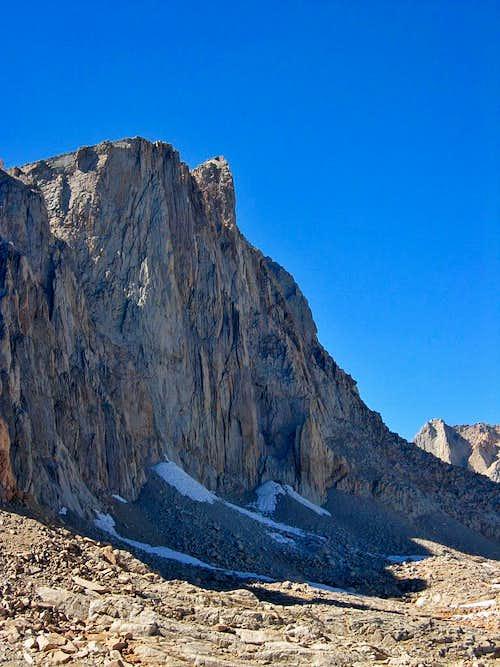 High Sierra Trail Mt. Whitney seen from near Trail Camp