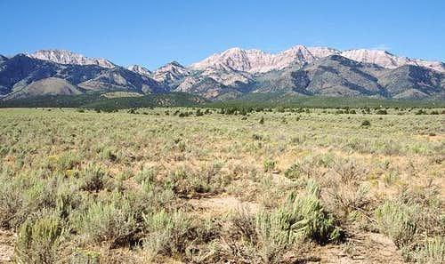 The Stansbury Mountains seen...