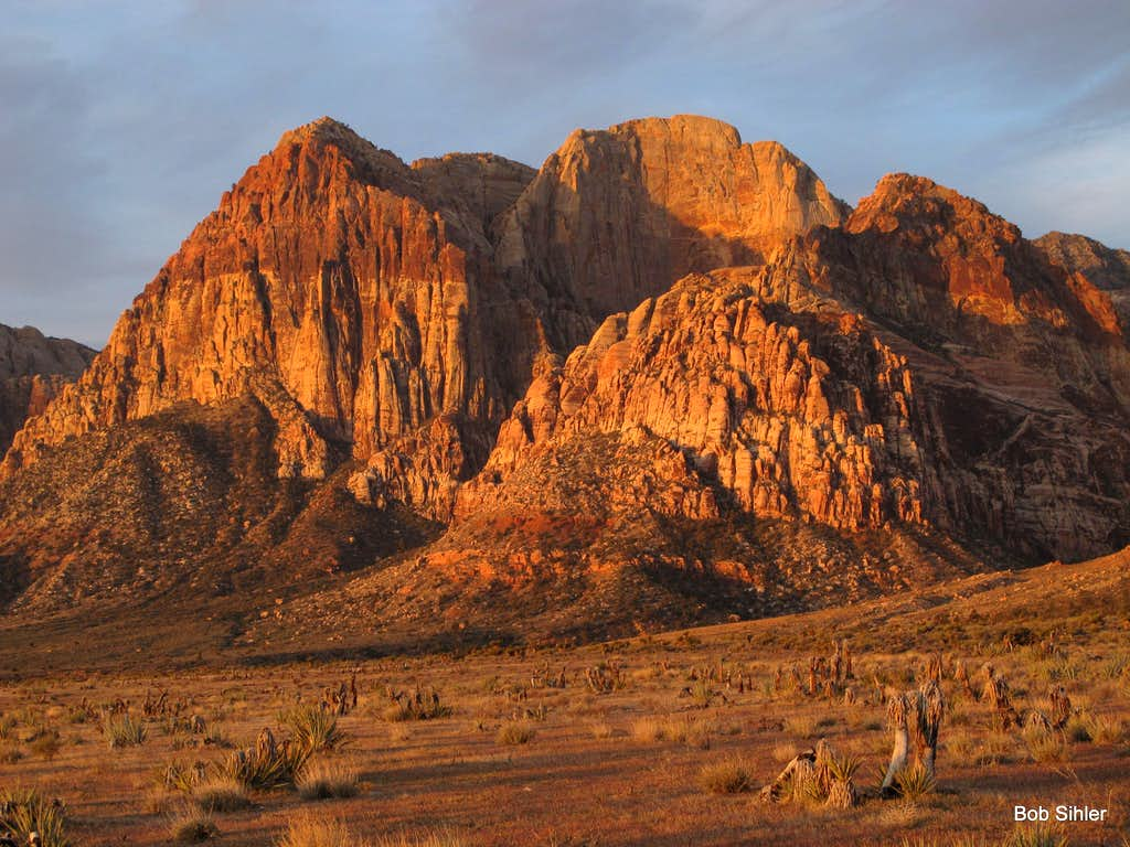 Red Dawn in Red Rock Canyon