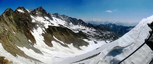 Panorama from the Weißmaurachjoch (2953m)