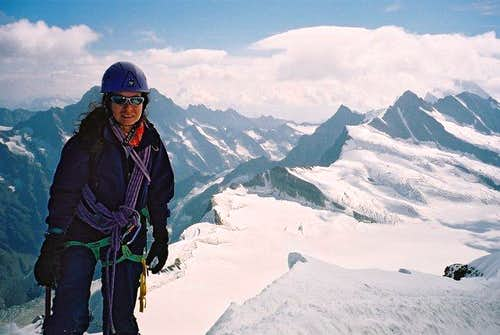 Elena Sfaellou on top of Moench