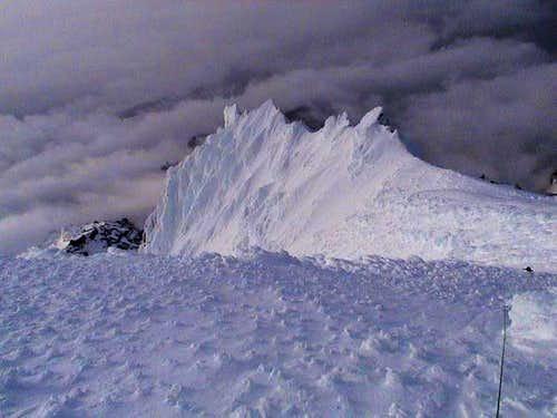 On the summit ridge (after...