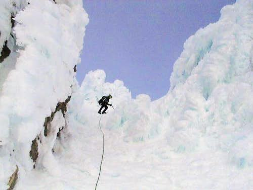 Me descending the Pearly...