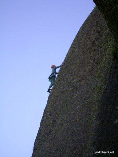 Rock climbing route