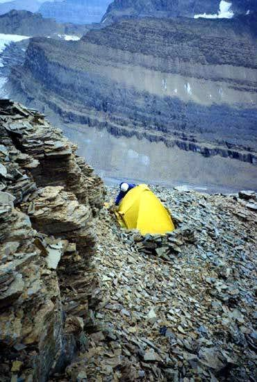 High Camp on Mt. Alberta....