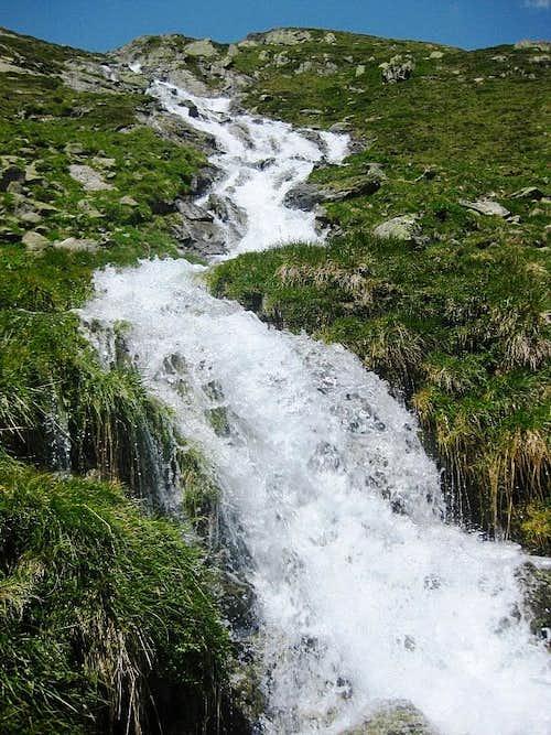 Mountain stream in Weites Kar