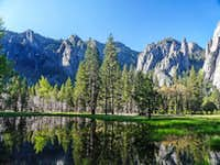 Cathedral Spires from the Merced River