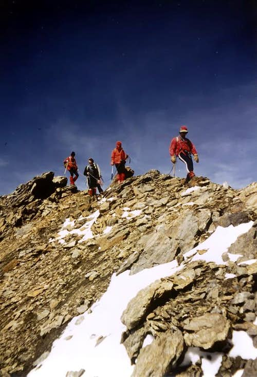 Peak Garin Company in Descent from Summit, 1978
