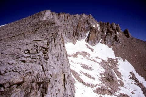 The south ridge between...