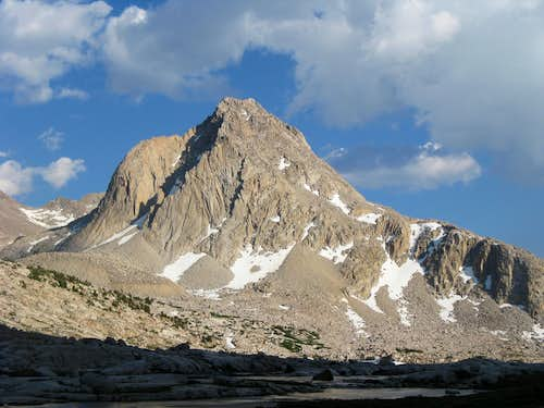 Mt. Huxley seen from John Muir Trail