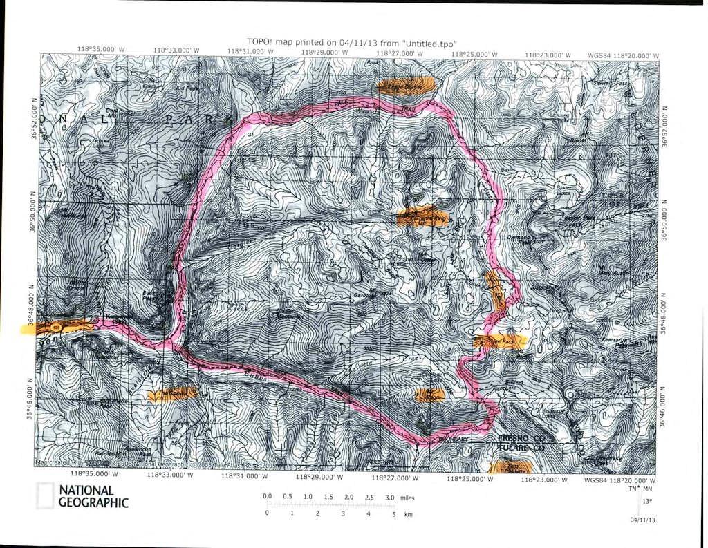 Rae Lakes Loop Trail