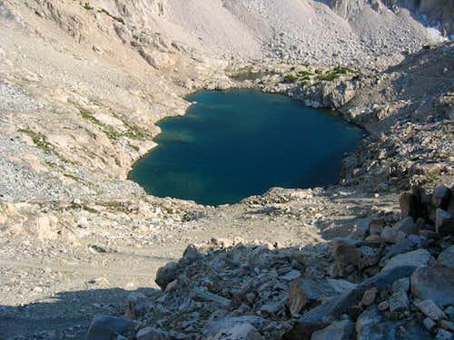 Rae Lakes Loop lake south of Glen Pass