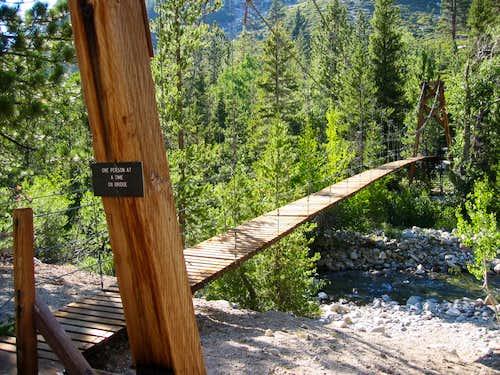 Rae Lakes Loop Bridge at Woods Creek