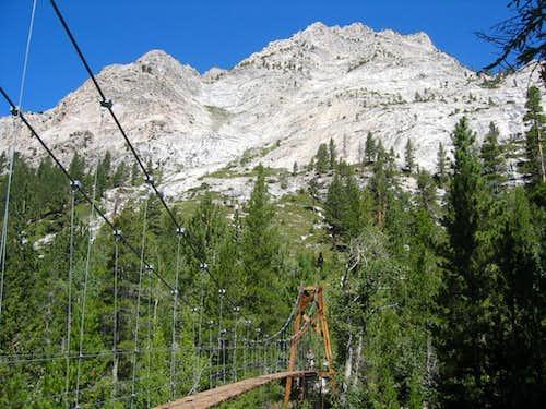 Rae Lakes Loop Woods Creek Crossing looking South