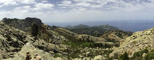 Summit view Calenche de Piana
