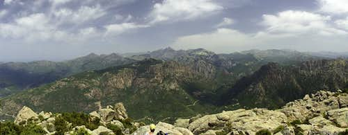 Summit view towards Paglia Orba