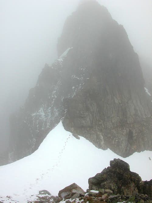 Ledge & snowbridge from other side