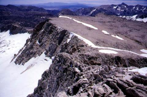 The ridge leading up the...