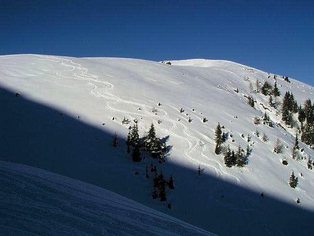 Cima Bella - summit slope....