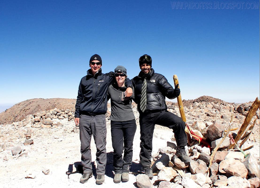 Summit of Licancabur volcano: 5917m