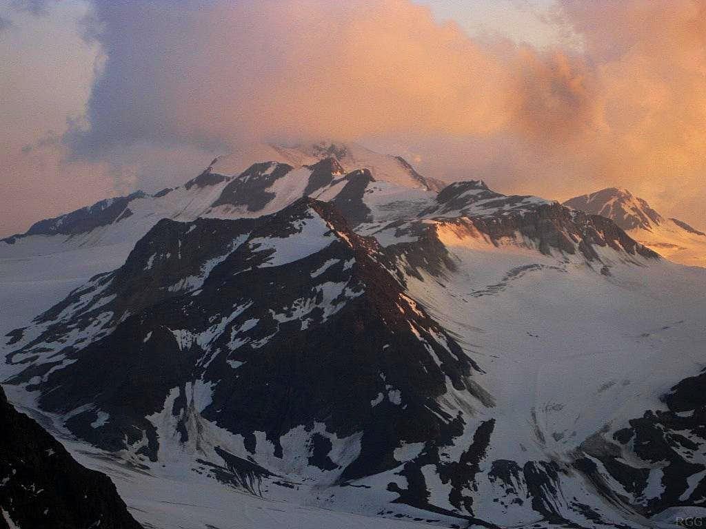 Wildspitze at sunset