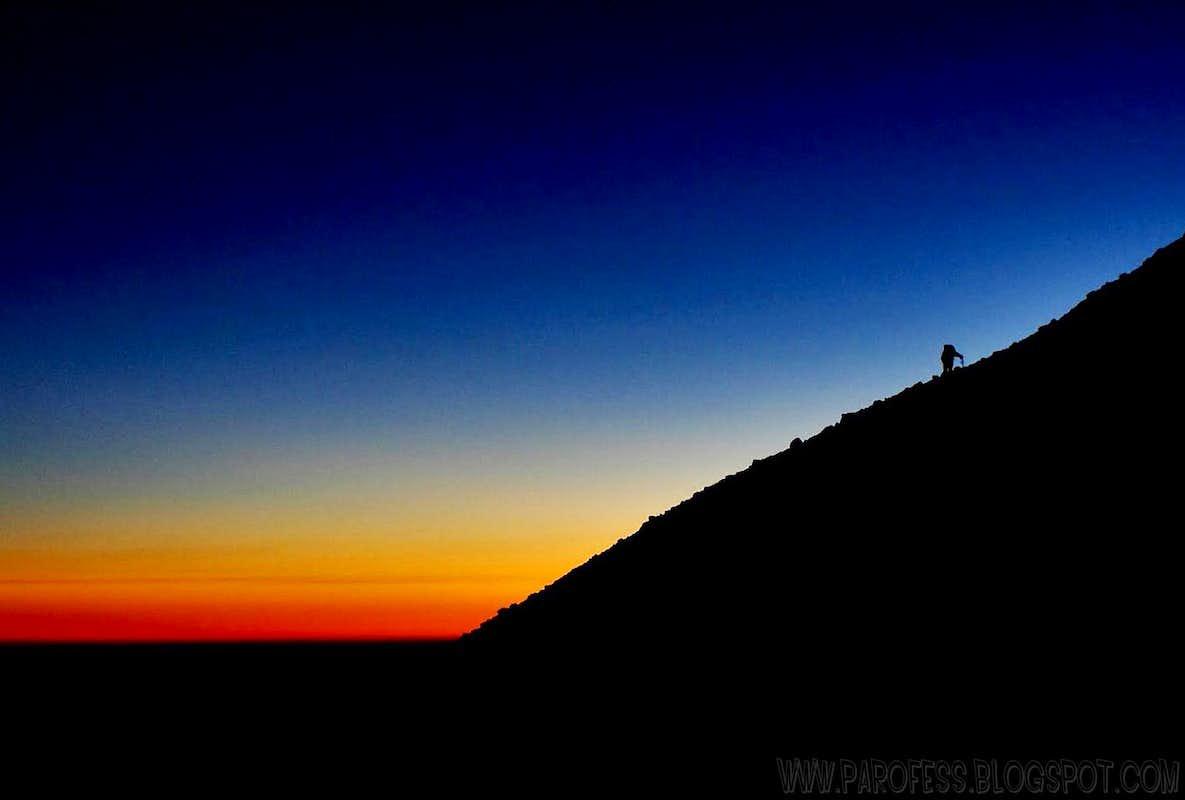 Sunrise at Lanin...